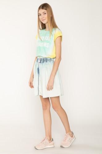 Jeansowa spódnica z suwakiem