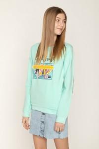 Turkusowa bluza dla dziewczyny GIRL STUFF