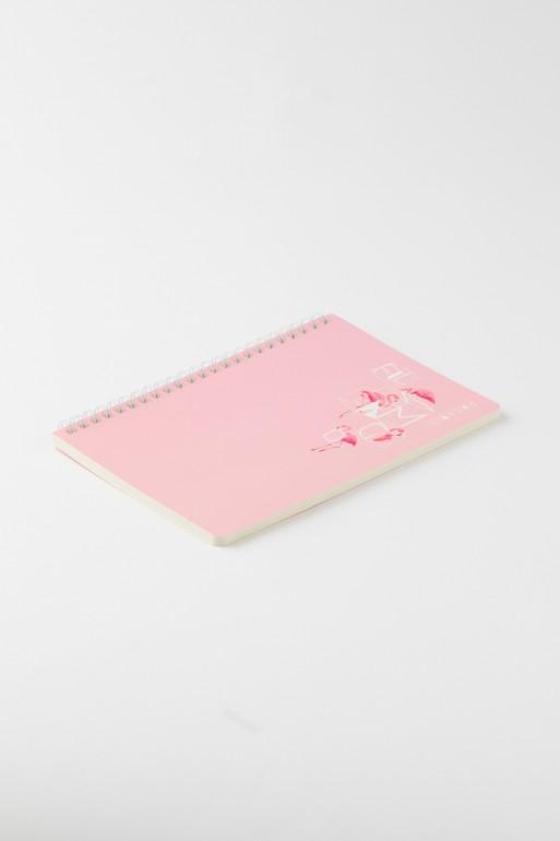 Różowy notes w linię FLAMINGO