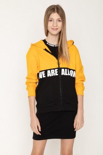 Dwukolorowa bluza dla dziewczyny WE ARE ALL ONE