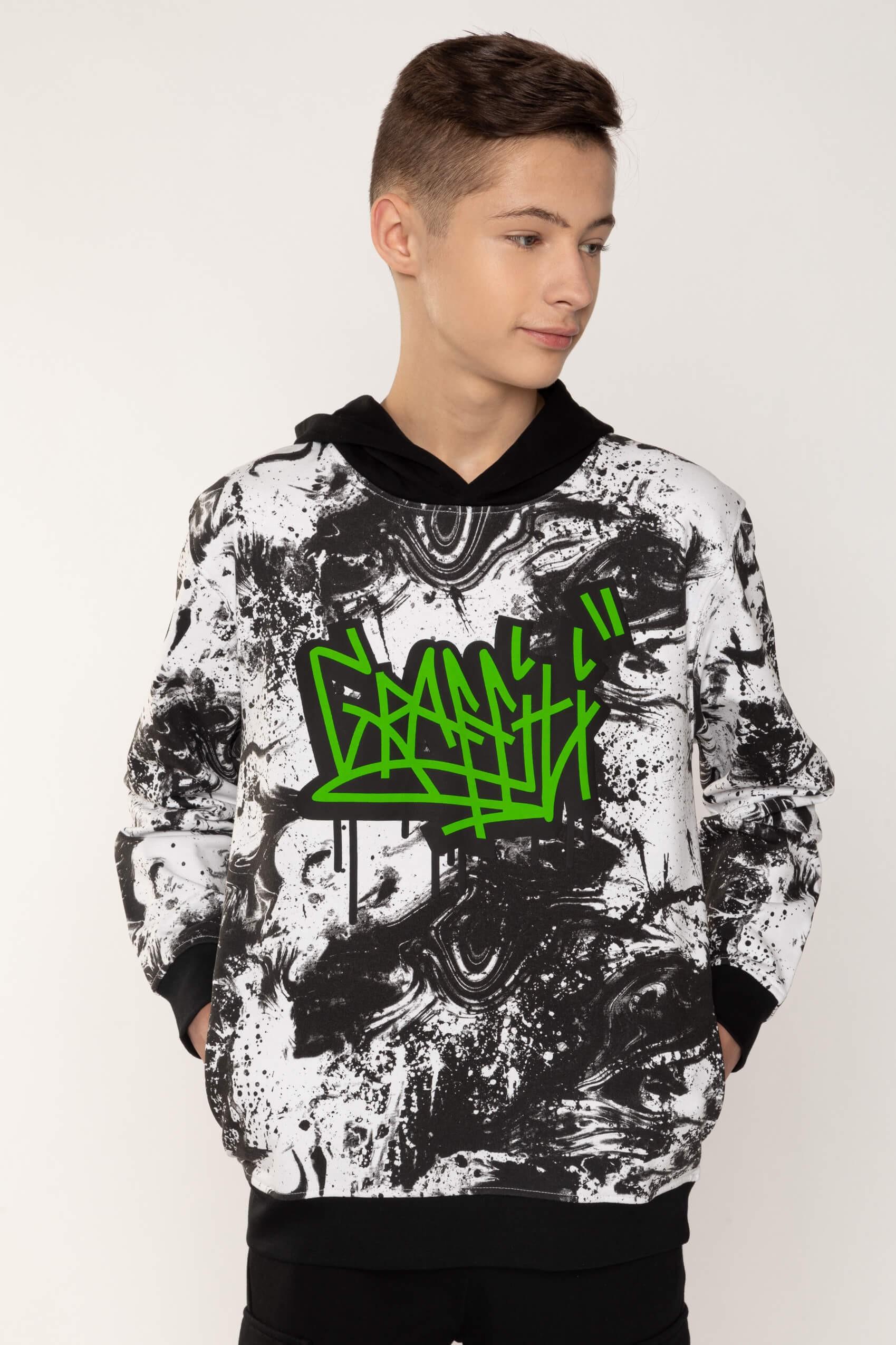 Bluza dla chłopaka z kapturem GRAFFITI | Sklep Internetowy Reporter Young
