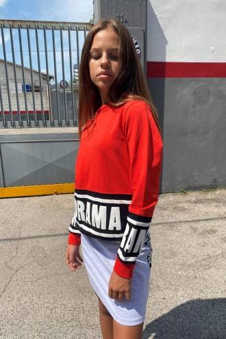Czerwona bluza z kapturem dla dziewczyny DRAMA