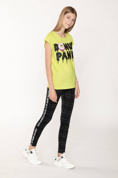 Żółty T-shirt dla dziewczyny DONUT PANIC