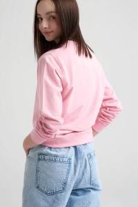 Jeansowe spodnie dla dziewczyny z naszywkami na kolanach by SONIA ŻUGAJ