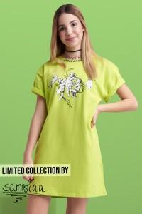 Zielona sukienka rebel angel by SAMOSIAA