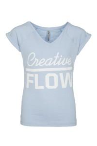 T-shirt Creative Flow Blue