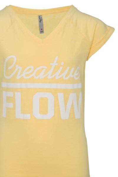 T-shirt Creative Flow Yellow