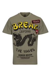 T-shirt Break The Waves Green