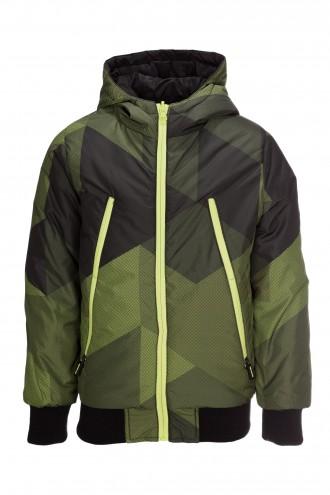 Zielonka kurtka z kapturem dla chłopaka