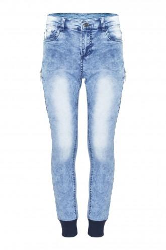 Luźne spodnie dżinsowe z zamkami