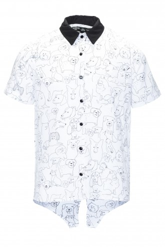 Koszula z krótkim rękawem i rysunkowym nadrukiem