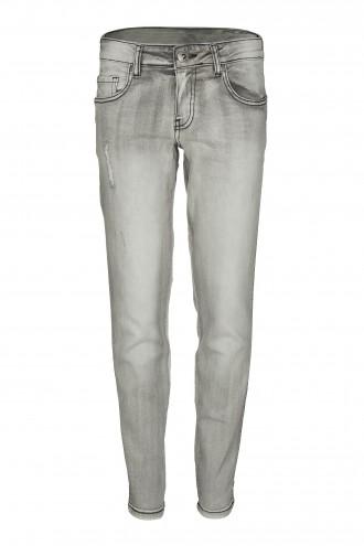 Spodnie dżinsowe z przetarciami LOOSE