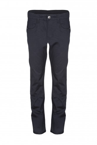 Czarne spodnie tkaninowe Rush SUPER LOOSE