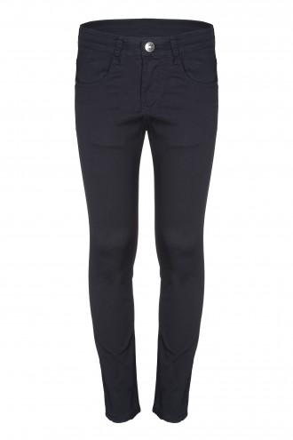 Czarne spodnie tkaninowe Rush