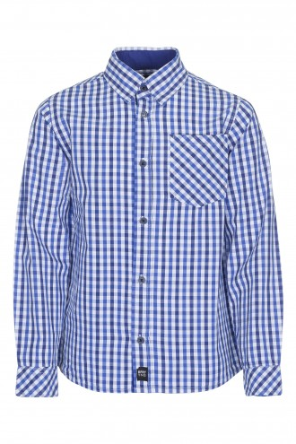 Koszula w kratę z długim rękawem Blue Print