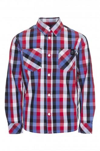 Koszula w kratę z długim rękawem Blurred