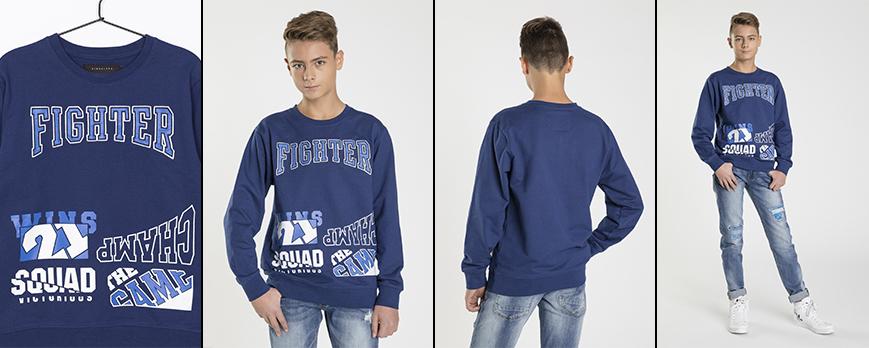 Bluza niebieska