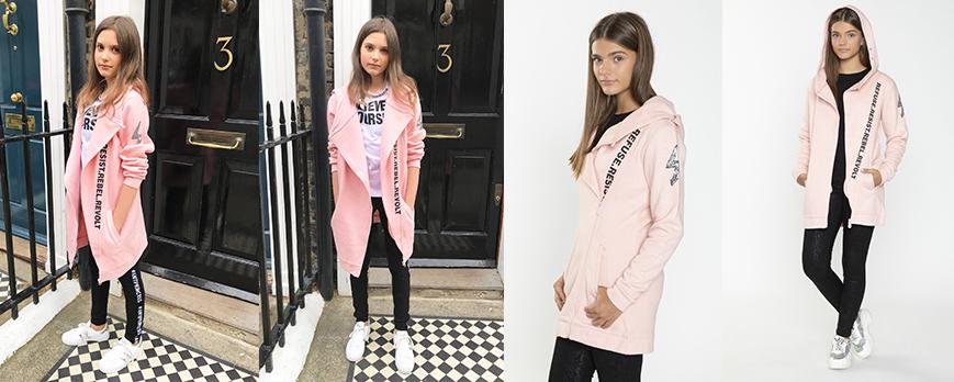 Różowa bluza dla dziewczyny