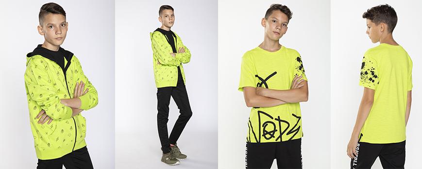 Neonowe ubrania dla chłopaka
