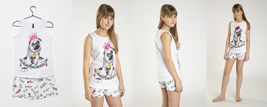 Wygodna dziewczęca piżama