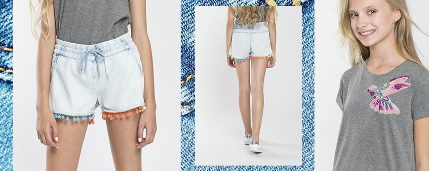 Jeansowe spodenki dla dziewczyny