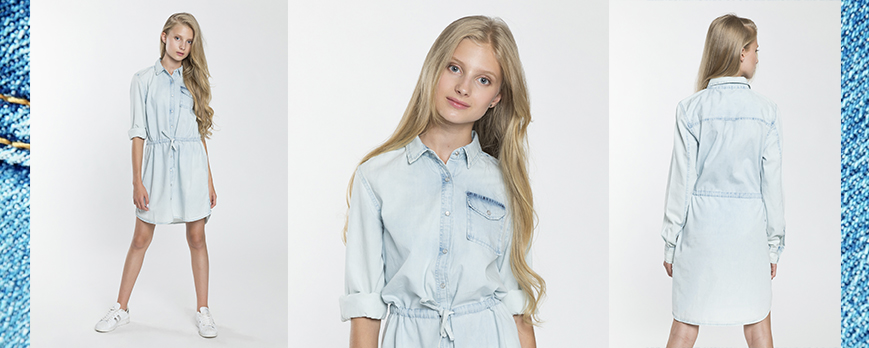 Jeansowa sukienka dla dziewczyny